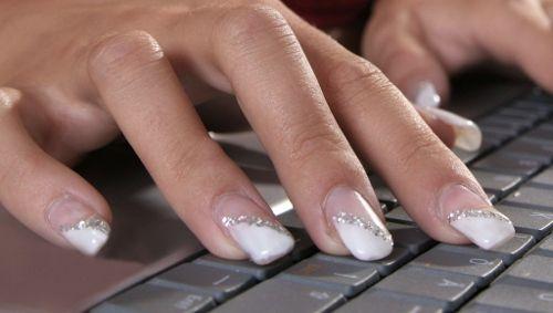 Как сделать ногти френч с блестками