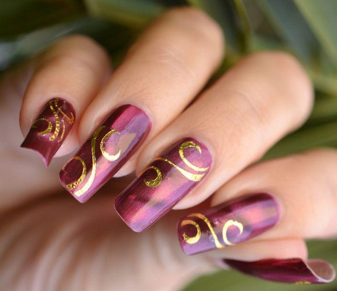 Модные фото-рисунки на ногтях