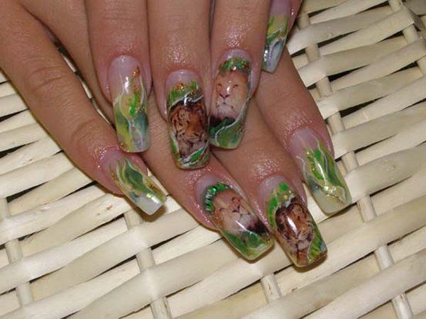 Оригинальная идея дизайна ногтей с рисунком