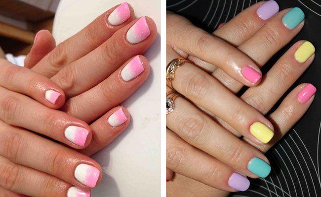Дизайн ногтей шеллаком (фото) френч