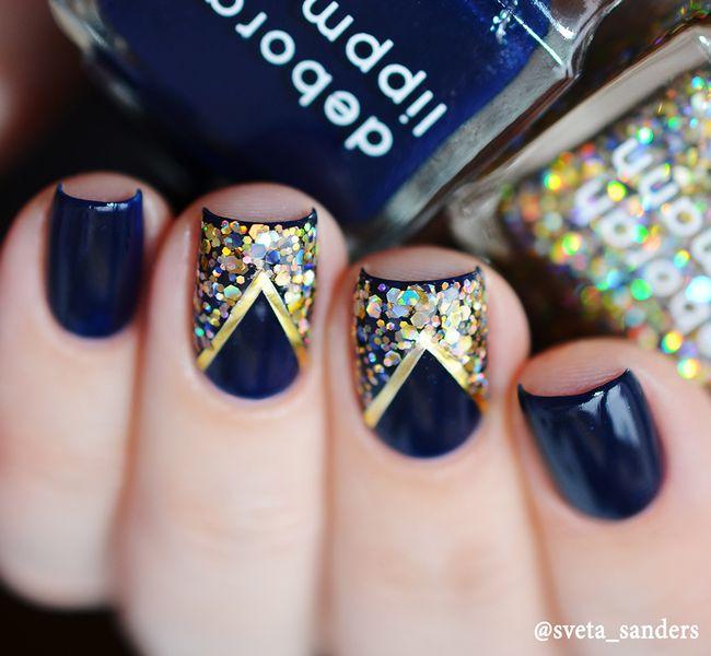 Декорирование ногтей глиттером