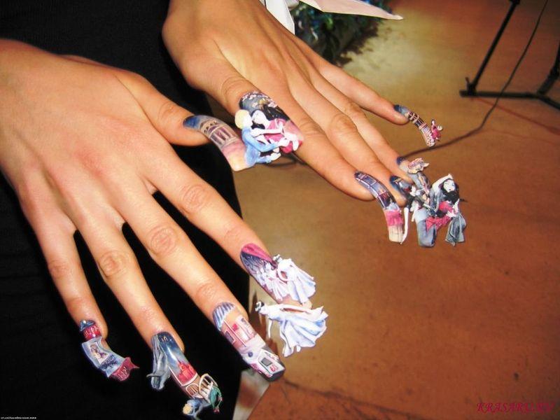 Видео как делать рисунки на ногтях