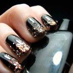 Декор ногтей глиттерами 1