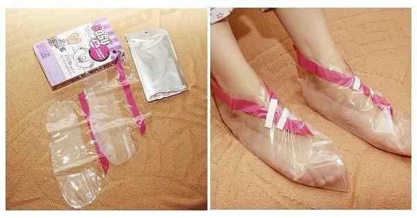 Китайские носочки для педикюра, новинка в уходе за кожей ног