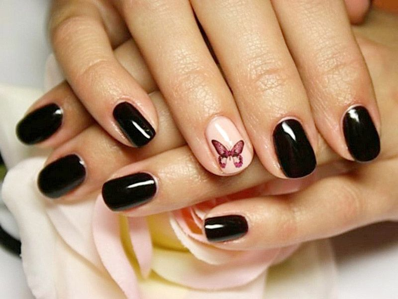 Ногти шеллак фото на короткие ногти
