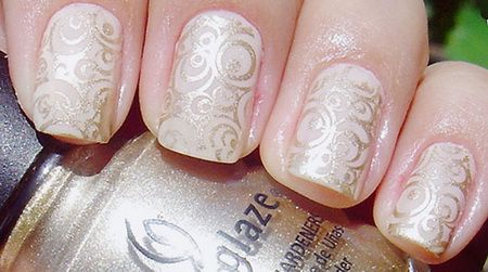 Белый маникюр на коротких ногтях