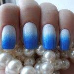 Сине-белый градиент