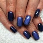 Маникюр черного и темно-синего цвета