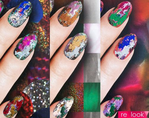 Вариант яркого дизайна ногтей