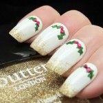 Идея новогоднего дизайна ногтей 4