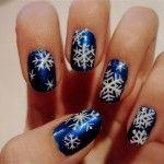 Идея новогоднего дизайна ногтей 5