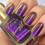 Фиолетово-коричневый маникюр
