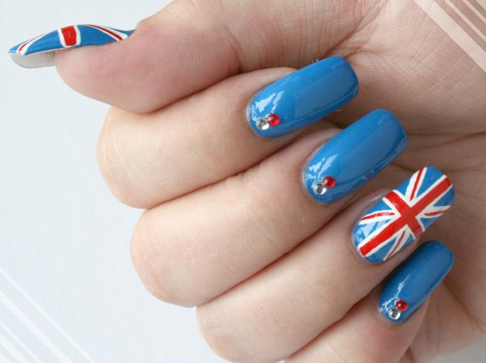 Британский флаг на ногтях: особенности и процедура выполнения