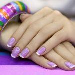 Френч лавандового цвета