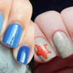 Морской дизайн ногтей 22