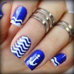 Морской дизайн ногтей 5