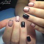 Дизайн ногтей 2017 с чёрным и светлым лаком