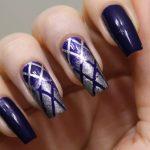 Ногти фиолетового цвета
