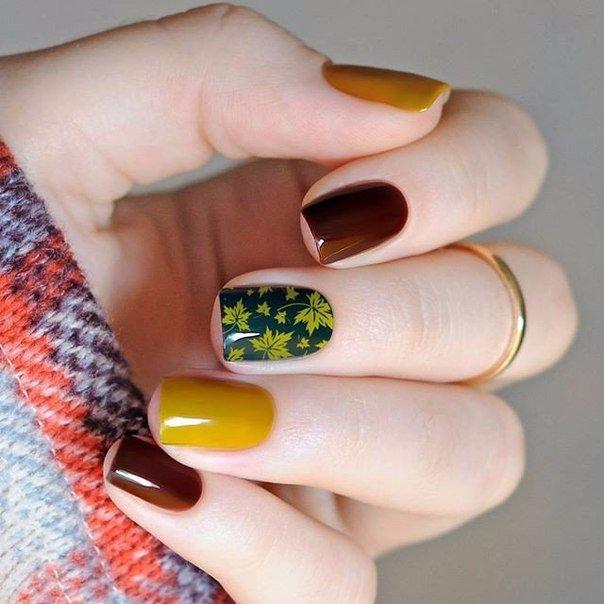 Новогодние Ногти Гель Лаком Фото Короткие Ногти