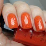 Оранжевый маникюр 4