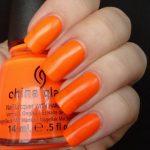 Оранжевый маникюр 6
