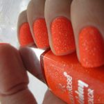 Оранжевый маникюр 7