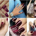 Ногти насыщенно-сиреневого цвета
