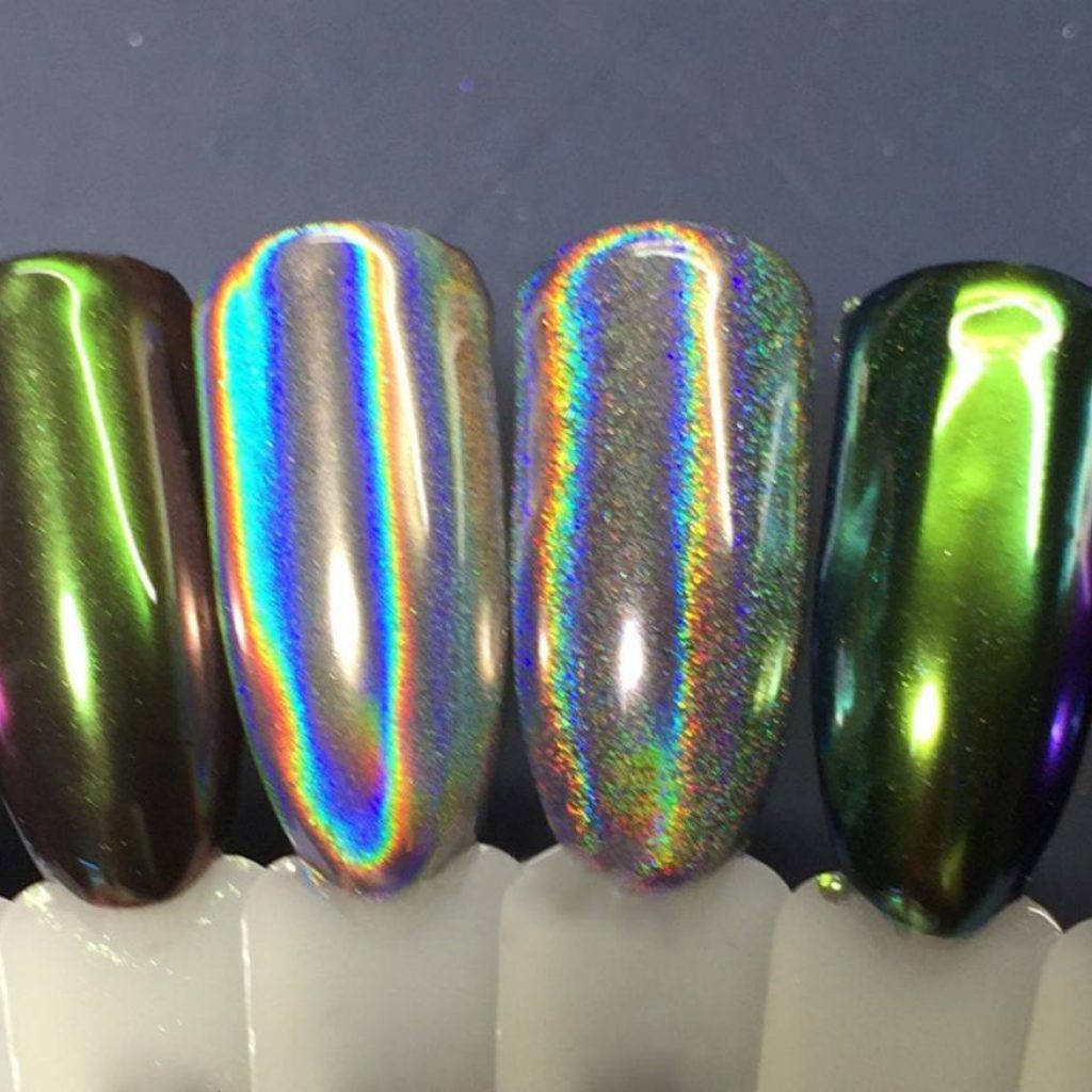 Варианты цветных зеркальных покрытий