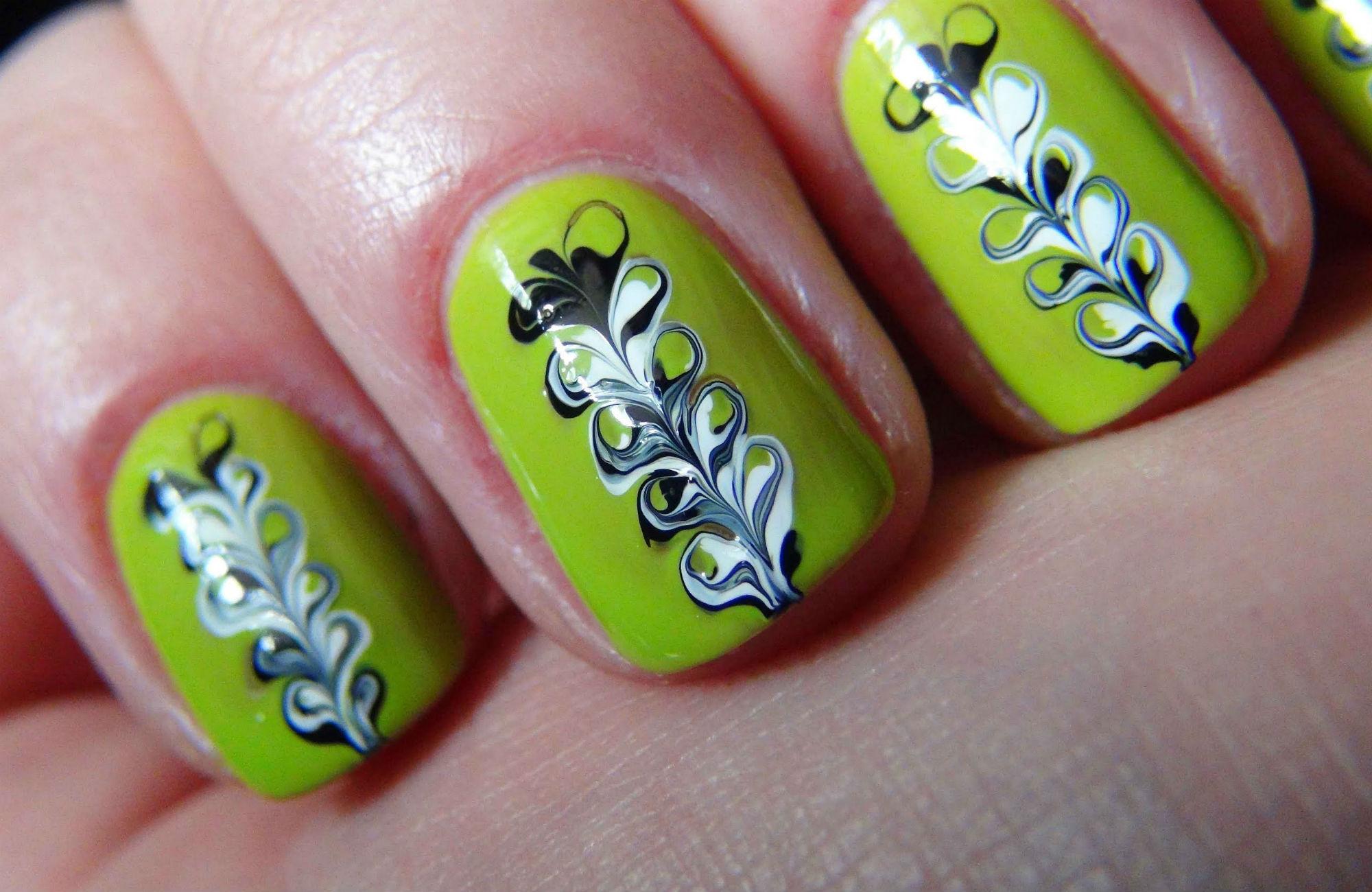 Как сделать узоры на ногтях иголкой поэтапно