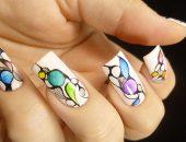 Дизайн ногтей с росписью акриловыми красками