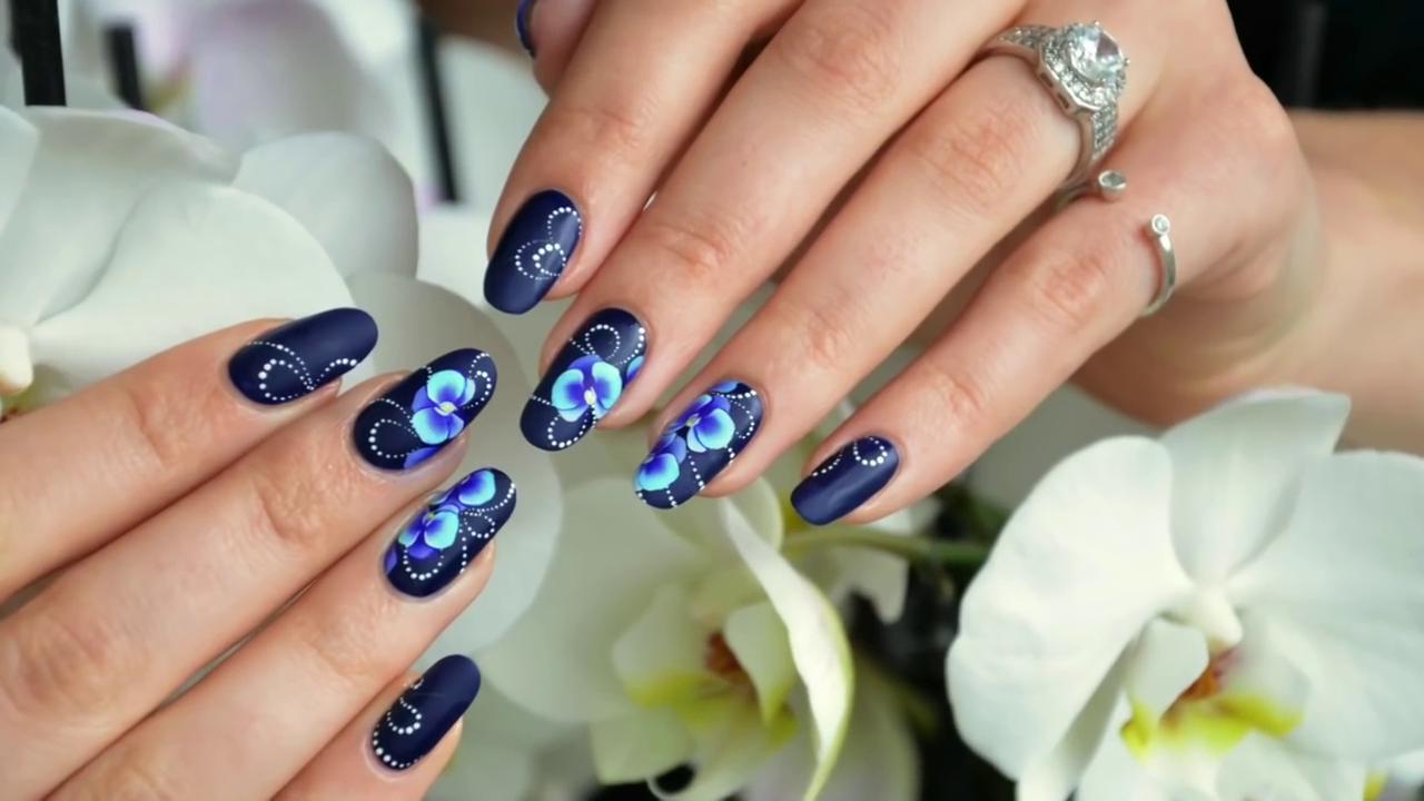 Мастер-класс исполнения рисунка орхидеи на ногтях