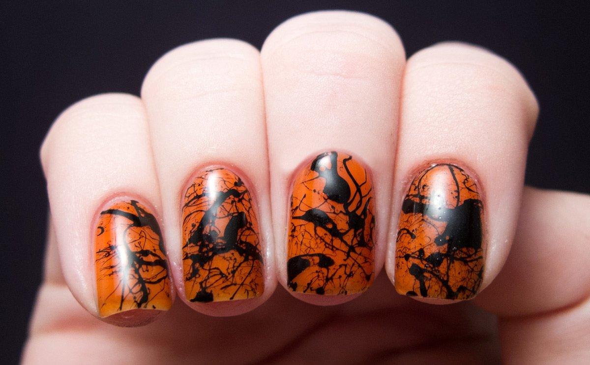 Тема Хэллоуина в дизайне маникюра