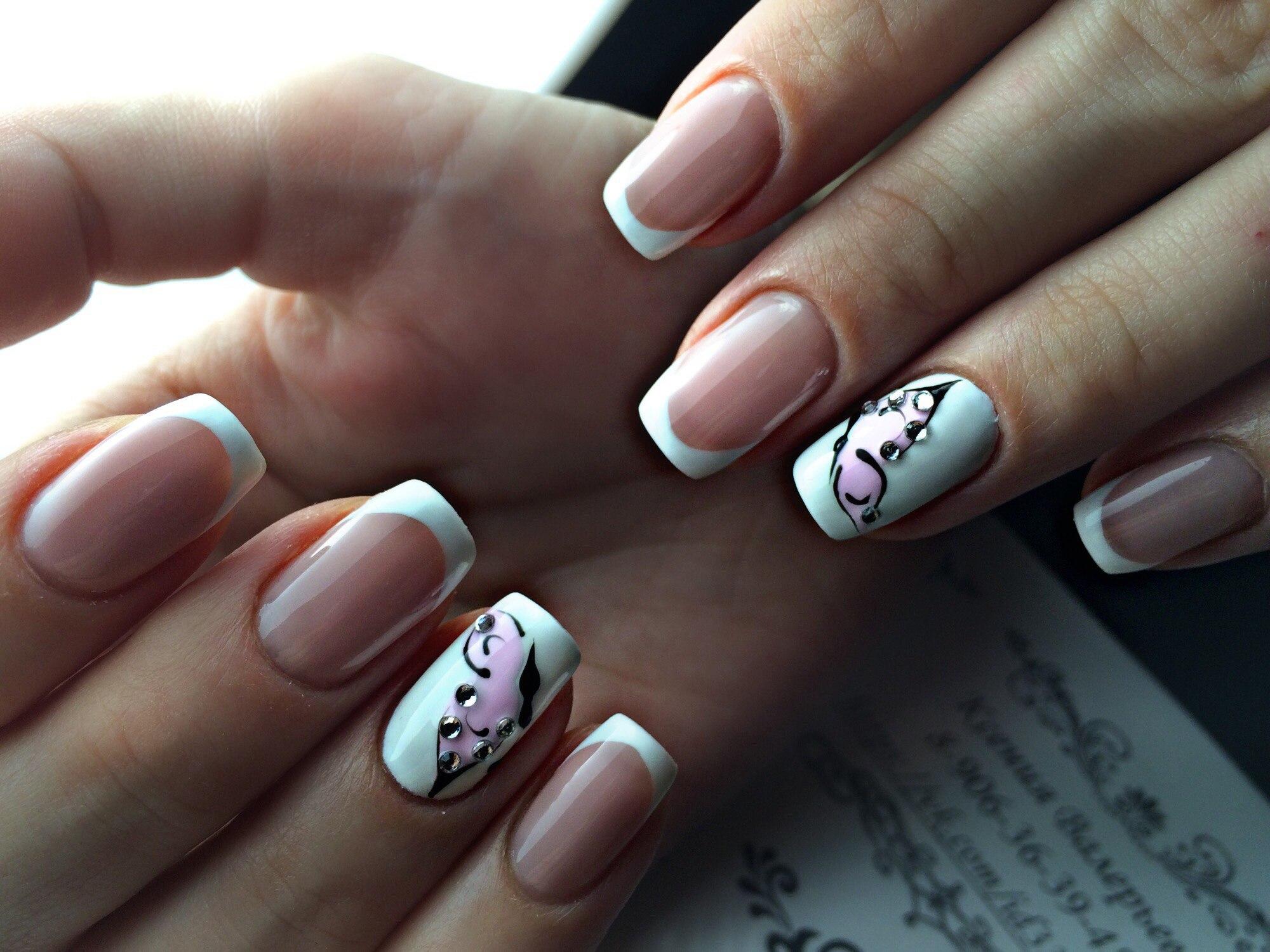 Модная форма и дизайн маникюра нарощенных ногтей