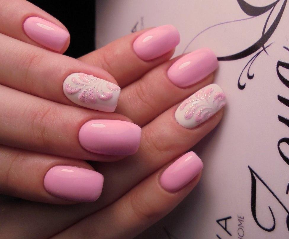 Идеи для дизайна маникюра нежно-розового цвета
