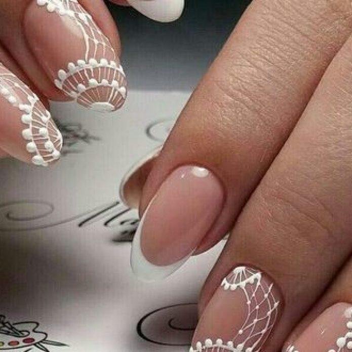 Свадебный маникюр для невесты