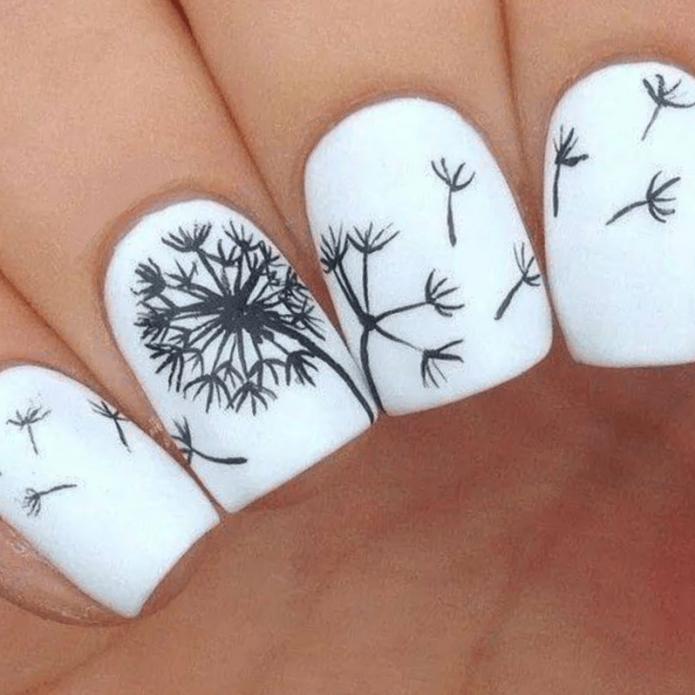 Дизайн ногтей белого цвета