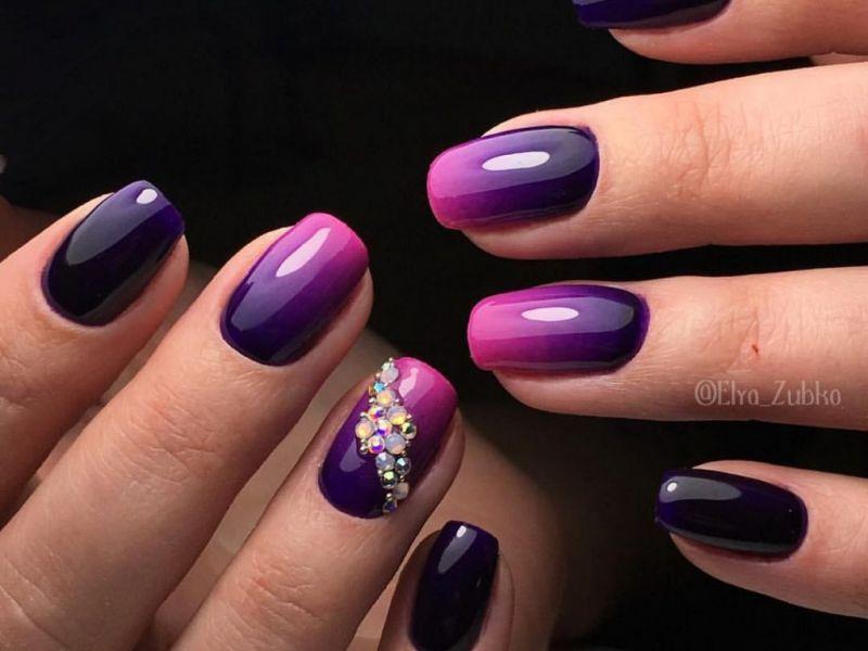 25 идей фиолетового маникюра на фото