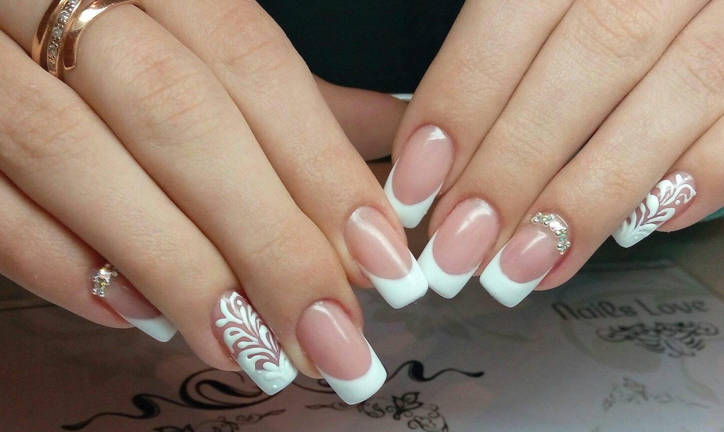 Белый френч: оригинальные идеи для дизайна ногтей