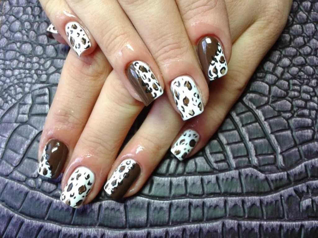 Как сделать леопардовый маникюр с гель-лаком