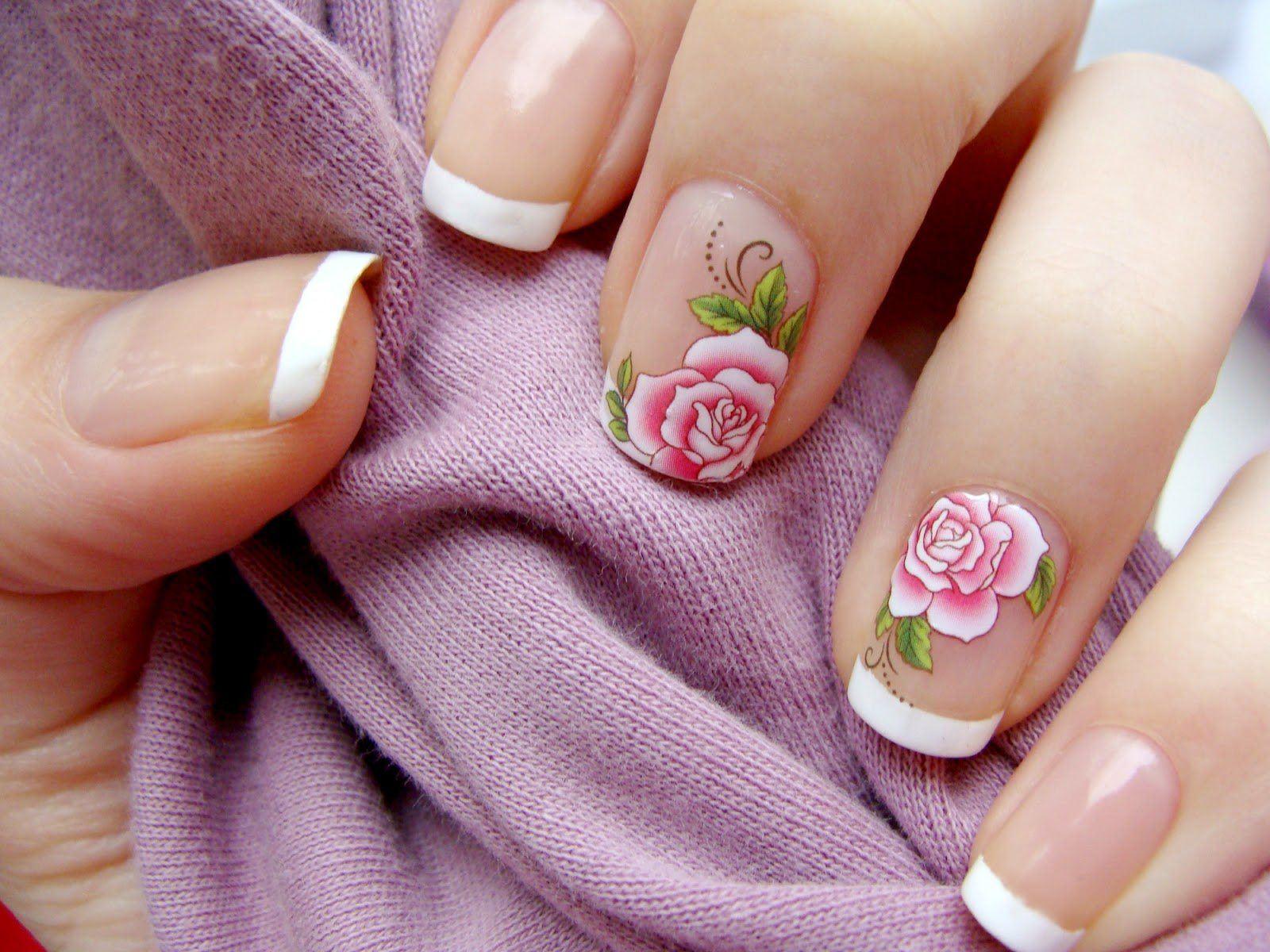Как начинающим научиться рисовать розы на ногтях поэтапно