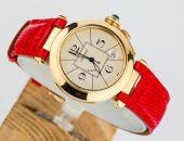 Женские наручные часы с красным браслетом