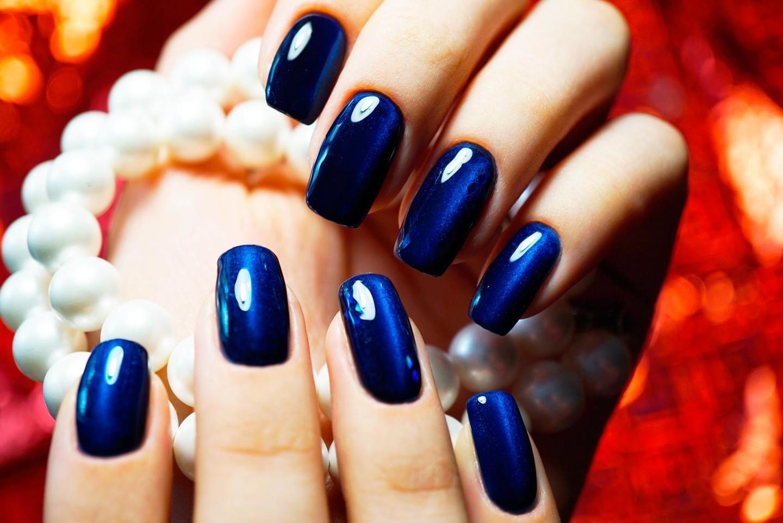 Идеи синего маникюра: создаем красивый нежно-темный дизайн