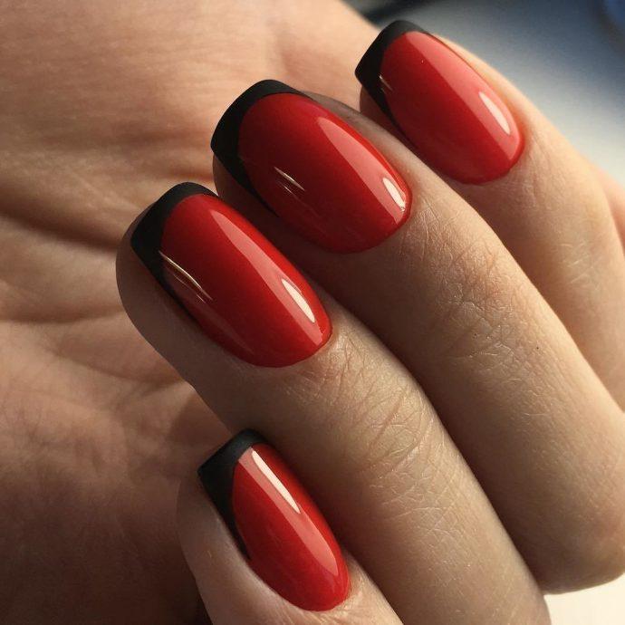 Оригинальный френч красный с черным