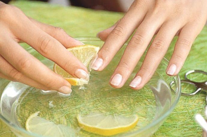 Ванночка для рук с лимоном