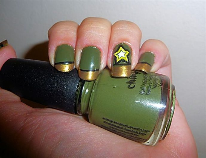 Дизайн ногтей Милитари