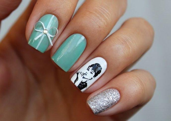 Дизайн ногтей в стиле винтаж
