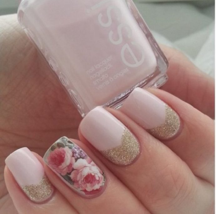 Идея дизайна ногтей в стиле винтаж