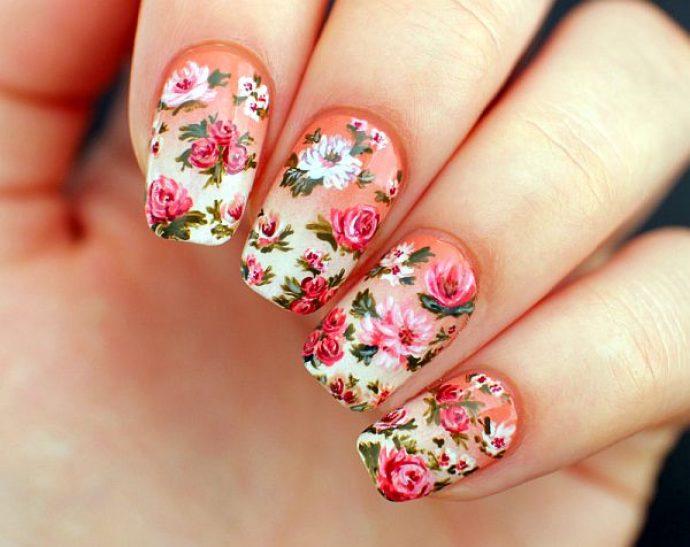 Винтажный дизайн ногтей