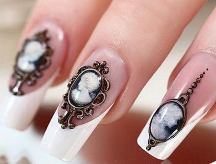 Дизайн ногтей в винтажном стиле