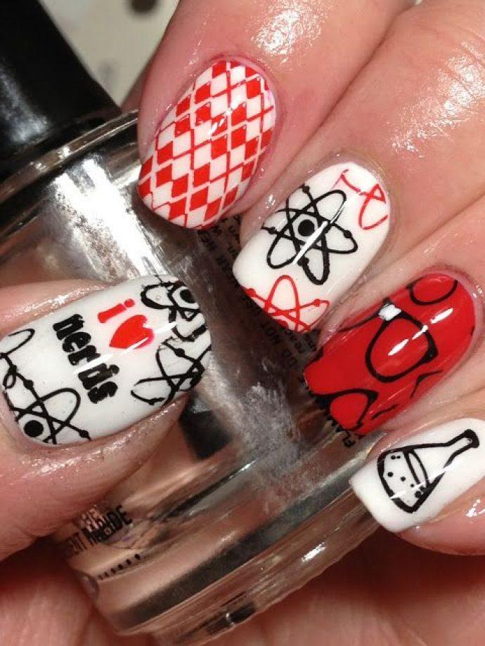 Дизайн ногтей к 1 сентября